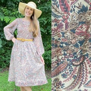 Vintage 70's Jonathan Logan Boho Prairie Dress
